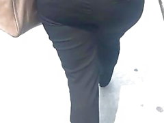 Bbw pawg in black dress pants