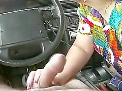 BBW Mature Masturb in a Car R20