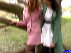 British les milf queened by babe in stockings