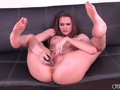 Tori Black shows off her sexy slender body and pleases her honey hole