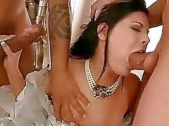 Beautiful princess getting double fucked