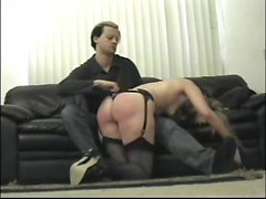 spanking men women in sofa