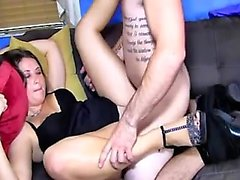 Bodacious secretary with sexy long legs is yearning for hot sex action