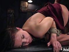Ass banging a cute brunette bombshell