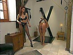 The Mistress trains her ass slave