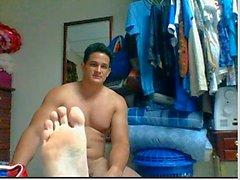 web kameramda doğruca erkekler ayakları