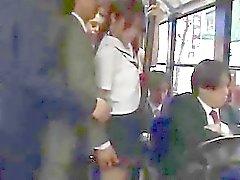 Japanese Babe Facial On Bus