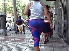Fast Bubble Butt i Tight Pink och Lilac Gym Leggings