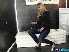 European babe gets slimed
