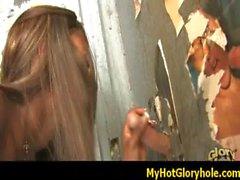 Ebony Hottie Swallows Massive Cock Gloryhole 17