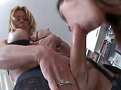 Dominant hung TS pounds maid's pussy and ass before CIM