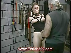 Kinky Joleen gets her nipples punished