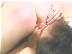 80s Girl gets birthday spanks before hot 69 and sex