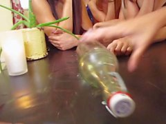 Group of sexy girls party and nasty orgy
