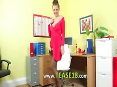 Incredibly fluent secretary only teasing