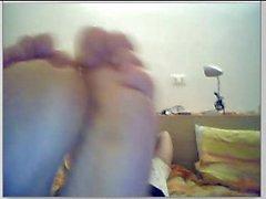 Heterosexuales pies en la webcam # 432