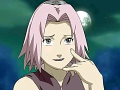De Naruto con bigote de doble penetraron a Sakura