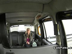 Busty British blonde takes backdoor