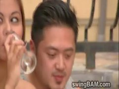 Hot oriental couple want some wild swingers action