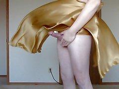 Slo-mo tease from a silk dress