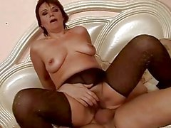Hot granny gets her pussy drilled