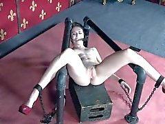 Clitpierced slut gets electric punishment