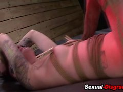 Bound whore gets gagged