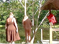 Sissy Jennifer Stripped & Spanked Outdoors