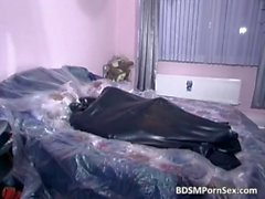 Awesome BDSM scene with two couples