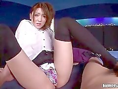 Japanese Girls entice attractive cowgirl in bed room.avi