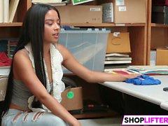 Shoplifter Bonnie Grey And Maya Bijou Get Slammed