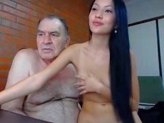OLD MAN FUCKS HOT ASIAN GIRL - MEET HER ON jencams