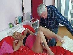 Horny Grandpa Repairman Fucking...
