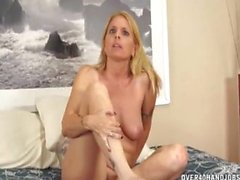 Naked Milf Touching Herself Before Jerking A Dick