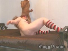 Hairy Pussy Big Butt Redhead Lesbien MILF Fucks BBC