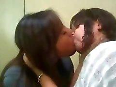 Lesbian teen kissing