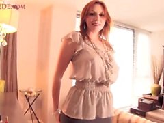 mature PAWG in stockings strips and teases ElliNude