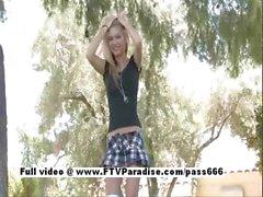 Aexa funny blonde naked outdoor