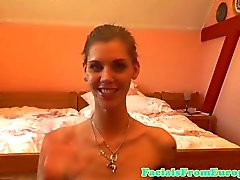 Tinytitted skinny eurobabe receives a facial