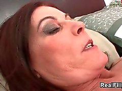 Mature brunette woman goes crazy getting part3