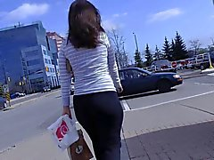 Candid Mall Ass in Yoga Pants Interaction with Her