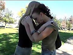Blonde TS Juliette bangs slender Audrey