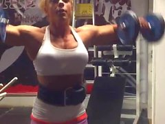 muscle woman busty huge tits hot