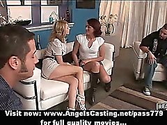Hot sexy swinger girls have their pussy licked and do blowjob