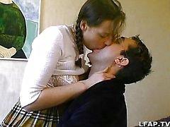 Ranskan amatööri pari seksiä sängyllä