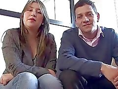 Real couple making a porn casting in Colombia