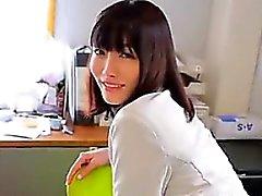 Japanese Babe Teasing Her Panties And Bra