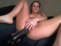 Brunette PAWG extending her opening that is anal on her aud