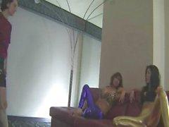 Two Hot Girls In Spandex Shiny Leggings Big Tits Footjob Facesittings Cumshot