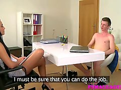 FemaleAgent Agents perfect pussy is creampied